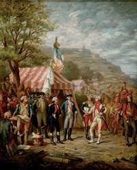 etude pour la prise de yorktown, des généraux washington, rochambeau et la fayette (study) by louis-charles-auguste couder