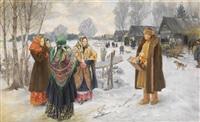 pogulianka (stelldichein der dorfjugend) by ivan semionovich kulikov