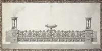 design for an elaborate surtout-de-table by jean guillaume moitte