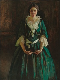 lady in green by gertrude fiske