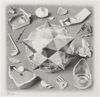 gegensatz (ordnung und chaos) by m. c. escher
