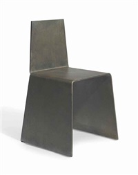 steel furniture set: chair by scott burton