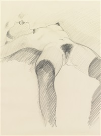 untitled (drawing of helen) by tom wesselmann