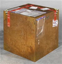 24-inch copper (fedex ® large kraft box © 2005 fedex 330508) international priority, los angeles-london, trk #8685 8772 8017, october 2-6, fedex europe first, sint-denijs-westrem - london, trk #770729708633, august 1-4, 2014 by walead beshty