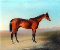 horse in landscape by edward robert smythe