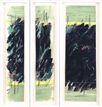 landscape (triptych) by joshua neustein