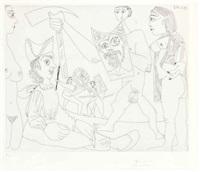 spectacle de gladiateurs, from la série 347 by pablo picasso
