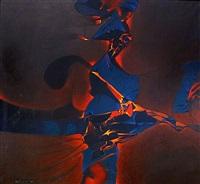 feux d'artifice bleu by paul ackermann