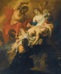 the gods mourning phaeton by theodor van thulden