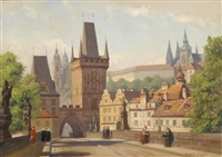 the charles bridge, prague by wilhelm fischer