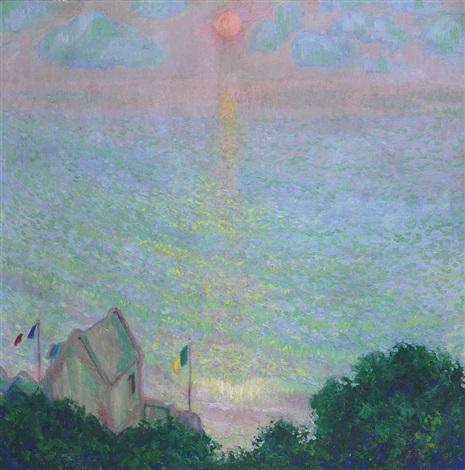coucher de soleil à veules les roses by theodore earl butler