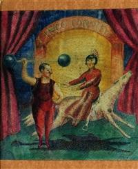 escena de circo by agustín lazo