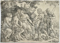 thetis und chiron by georg pencz