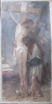 la compassion! (study) by william adolphe bouguereau