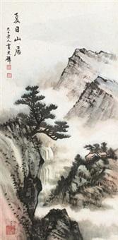 夏日山居 镜片 设色纸本 by huang junbi