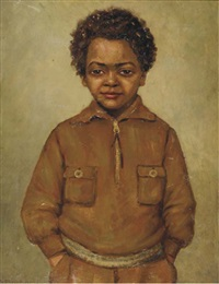portrait of a boy by arnold lodewijk bokhorst