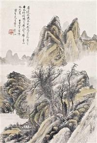 青山春晓 by huang binhong