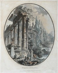 ier. ruines romaines (after j. h. a. pernet) by jean françois janinet