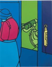 motocyclette by valerio adami