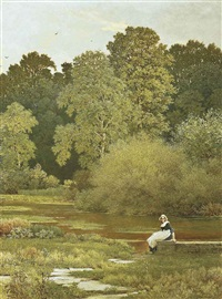 riverside, wallingford, berkshire by george dunlop leslie