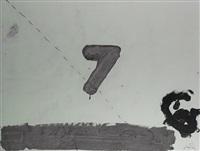 7 sobre acetato by antoni tàpies