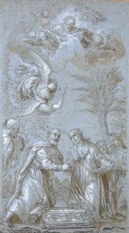 la rencontre des parents de la vierge by benedetto caliari