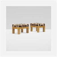 cityscape stools (pair) by paul evans