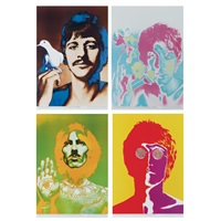 sheets 26 3/4 x 18 1/2 inches; 679 x 470 mm (set of 4) by richard avedon