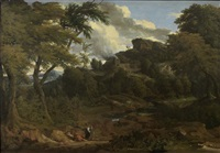 paesaggio con figure by jan baptist huysmans