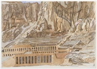 temple of hatshepsut by philip pearlstein