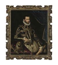 portrait of jacopo boncompagni, three-quarter length, in armor by scipione pulzone