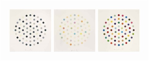three spot etchings (set of 3) by damien hirst