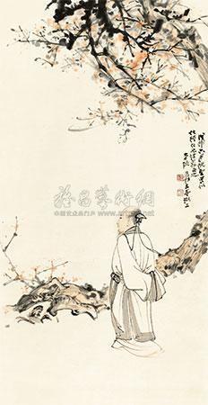 高士图 the hermit by zhang daqian
