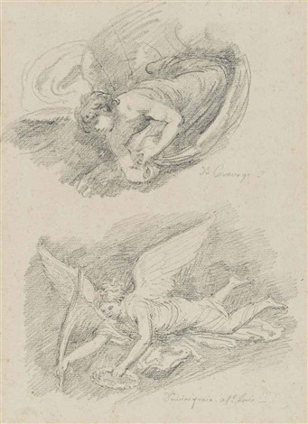 studies of angels after caravaggio and domenichino by jean honoré fragonard