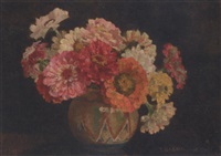 zinnias by ethel gabain