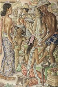 at the pasar by anak agung gede sobrat