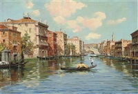 on the grand canal, venice by cesare vianello