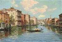 on the grand canal, venice by cesare vianello