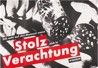 gib acht auf den moment wenn stolz sich in verachtung wandelt (watch the moment when pride changes to contempt) (8 works) by barbara kruger