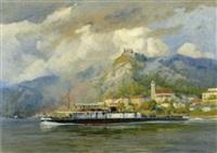 das personenschiff ams traun vor dürnstein by august von ramberg