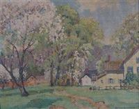 spring landscape by arthur j. beaumont