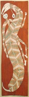 spirit fgure and serpent by david milaybuma