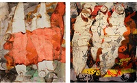 crosswire (diptych) by ed moses