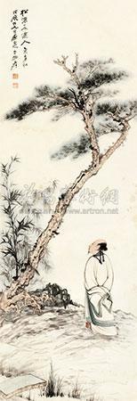 松下高士 landscape by zhang daqian