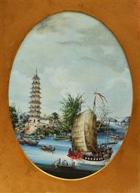 whampoa pagoda and dahangjiao (a pair) by youqua