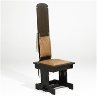hall chair by charles rohlfs
