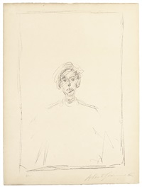 head of a young man by alberto giacometti