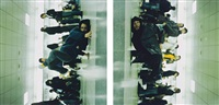 in a station of the metro 1 (diptych) by shaun gladwell