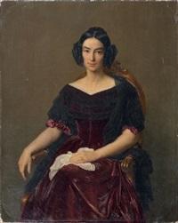 portrait de la comtesse caroline de vergès née caroline brochant de villliers (1806-1860) by françois louis dejuinne