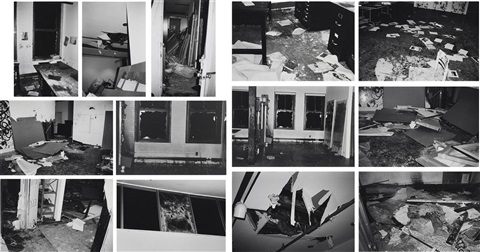 incident on 9th street 13 by christopher wool